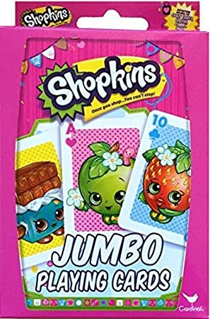 Shopkins Jumbo Playing Cards Once You Shop You Cant Stop: Amazon ...