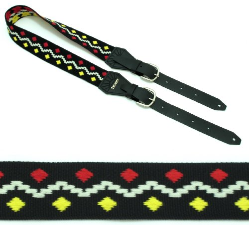 (TRUCE Lennon Peace Vintage Buckle Series Guitar Strap by TROPHY)