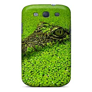 Back Cases Covers For Galaxy S3 - Crocodile In Green