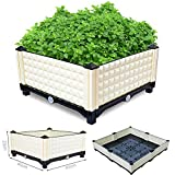 Raised Garden Bed for Vegetables Flowers -Outdoor/Balcony/Backyard/Rooftop Home Vegetable Planters Grow Bed