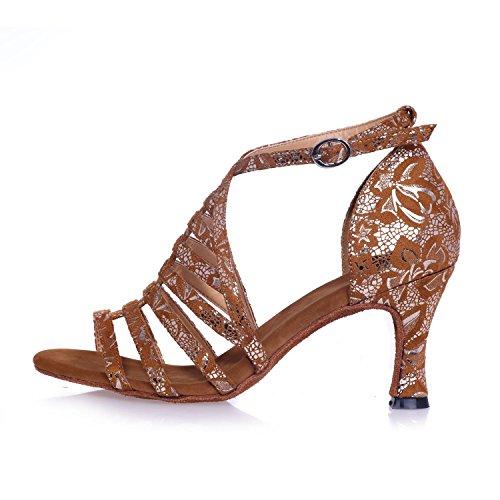 Personalizar Black Latin Se Negros Zapatos Mujeres Satin yc Los Plateados Marrones Tacones Bailan L Pueden wxXZO6qW