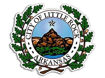 MAGNET Little Rock Arkansas City Seal Magnet(decal logo ak) Size: 4 x 4 inch (Arkansas Seal)