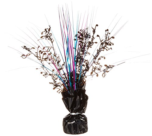 50 Centerpiece Spray (Musical Note Gleam 'N Spray Centerpiece (black, cerise, turquoise) Party Accessory  (1 count) (1/Pkg))