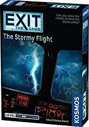 EXIT: The Stormy Flight | Escape Room Game in a Box| EXIT: The Game – A Kosmos Game | Family – Friendly, Card-