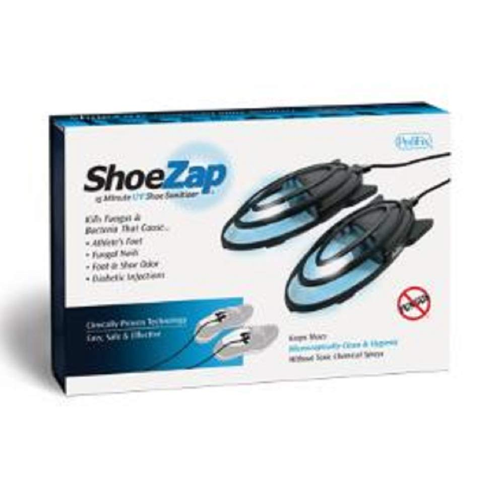 ShoeZap Clinically Proven Germicidal Light Technology 15 Minute UV (Ultraviolet) Shoe Sanitizer that Kills Odor