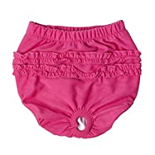 JJ Store Cute Washable Cotton Dog Diaper Pet Female Sanitary Pant Clothes Apparel
