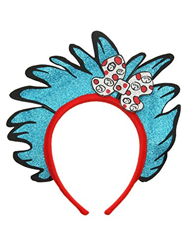 Thing 1 Costume Girl (elope Dr Seuss Cat in the Hat Thing 1&2 Glitter Headband)
