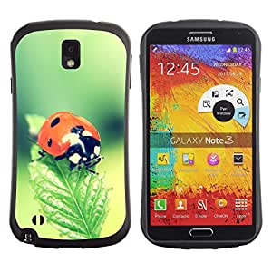 Stuss Case Hybrid PC + TPU Anti-Shock Case for Samsung Galaxy Note 3 - The Ladybug