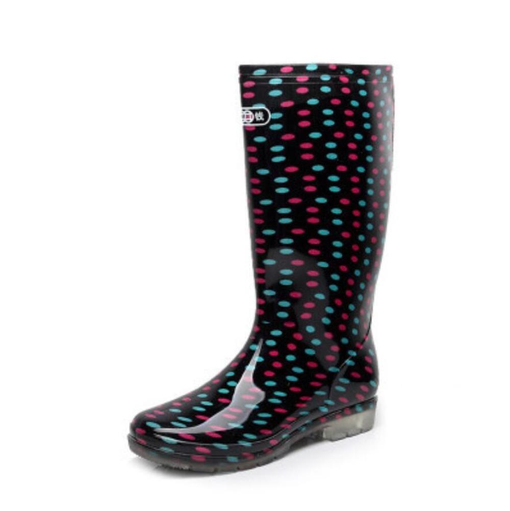 SIHUINIANHUA Frühling und Herbst Damen Regen Stiefel in den Hohen Hohen Hohen Rohr Regen Stiefel Überschuhe Schuhe Autowaschwasser Schuhe 1 37 5ee956