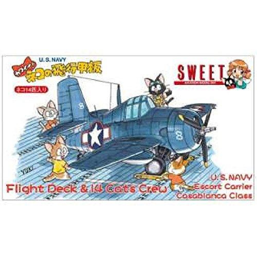 SWEET We show cute 1/144 airplane series! Flight deck (U.S.NAVY) of cat Japan used like new ()