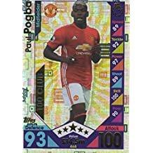 Topps Match Attax 2016/2017 Paul Pogba Hundred 100 Club 16/17 Trading Card by Match Attax 16/17