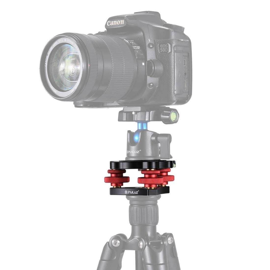 HEGUANGWEI Camera Mount Aluminum Alloy Adjustment Dials Leveling Base Ball Head for Camera Tripod Head Photography by HEGUANGWEI