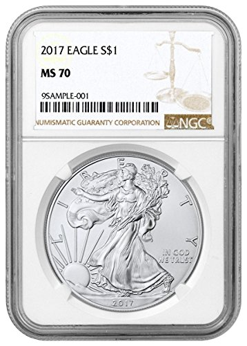 2017 – American Silver Eagle Brown Label Dollar MS70 NGC