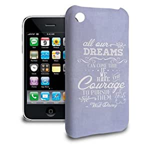 Phone Case Apple iPhone 3/3GS - Disney Quote Dreams Can Come True in Lilac Lightweight Slim