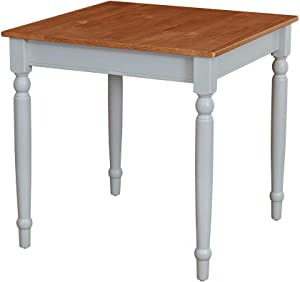 "Amazon Brand – Ravenna Home Traditional Dining Table 29""H, Gray and Rustic Honey Pine"