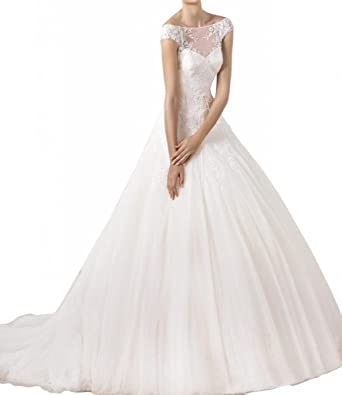Hochzeitskleider prinzessin mit schleppe und spitze