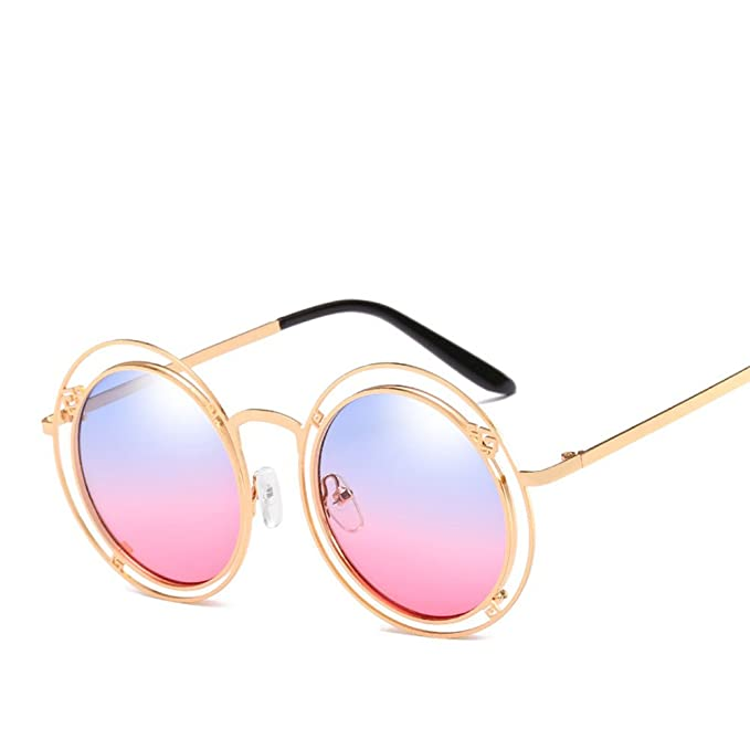 Occhiali Da Vista Con Occhiali Da Sole A Doppio Anello Irregolari Retrò Unisex Anti-Riflesso,Natural