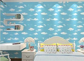 Meaosy Apartment Blaue Tapete Kinderzimmer Schlafzimmer Wohnzimmer