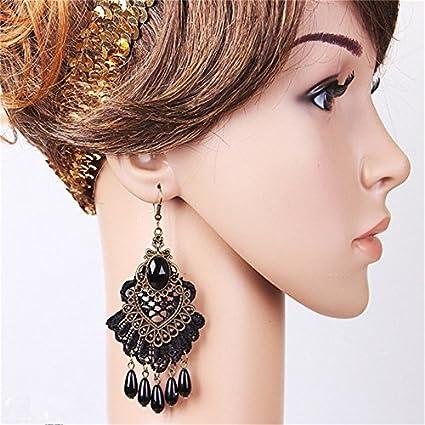 Wicemoon vintage gothique Dentelle Boucles doreilles clous doreille populaire Bijoux Clous pour fille
