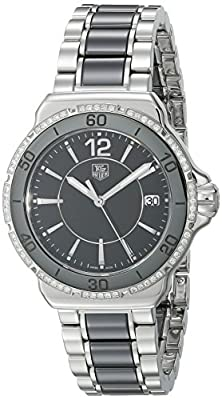 TAG Heuer Women's WAH1212.BA0859 Formula One Stainless Steel Black Dial Watch