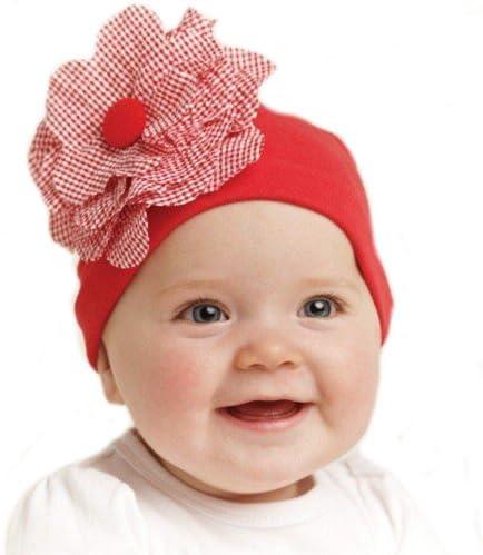 Red flower hatflower hatredflowerInfant hatnewborn hatbaby hatbabyinfanthat