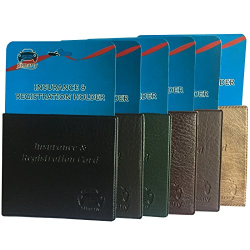 (Set of 6 Assorted Color AUTO CAR Truck Insurance Registration Card Holder Wallet 5.25