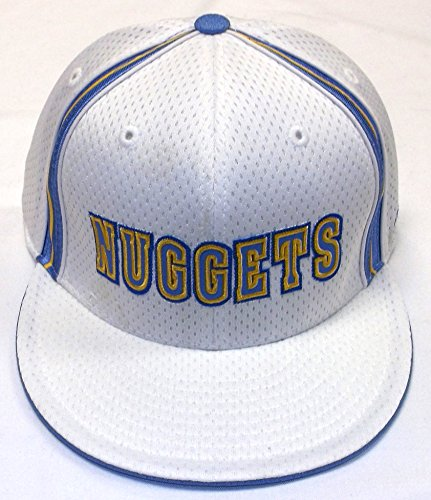 Cap Embroidered Reebok (New! Denver Nuggets - Flatbill Fitted Hat-3D Embroidered Cap - Reebok)