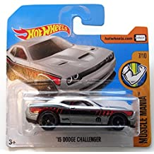 Hot Wheels 2017 '15 Dodge Challenger Muscle Mania Grey 48/365, Short Card by Mattel