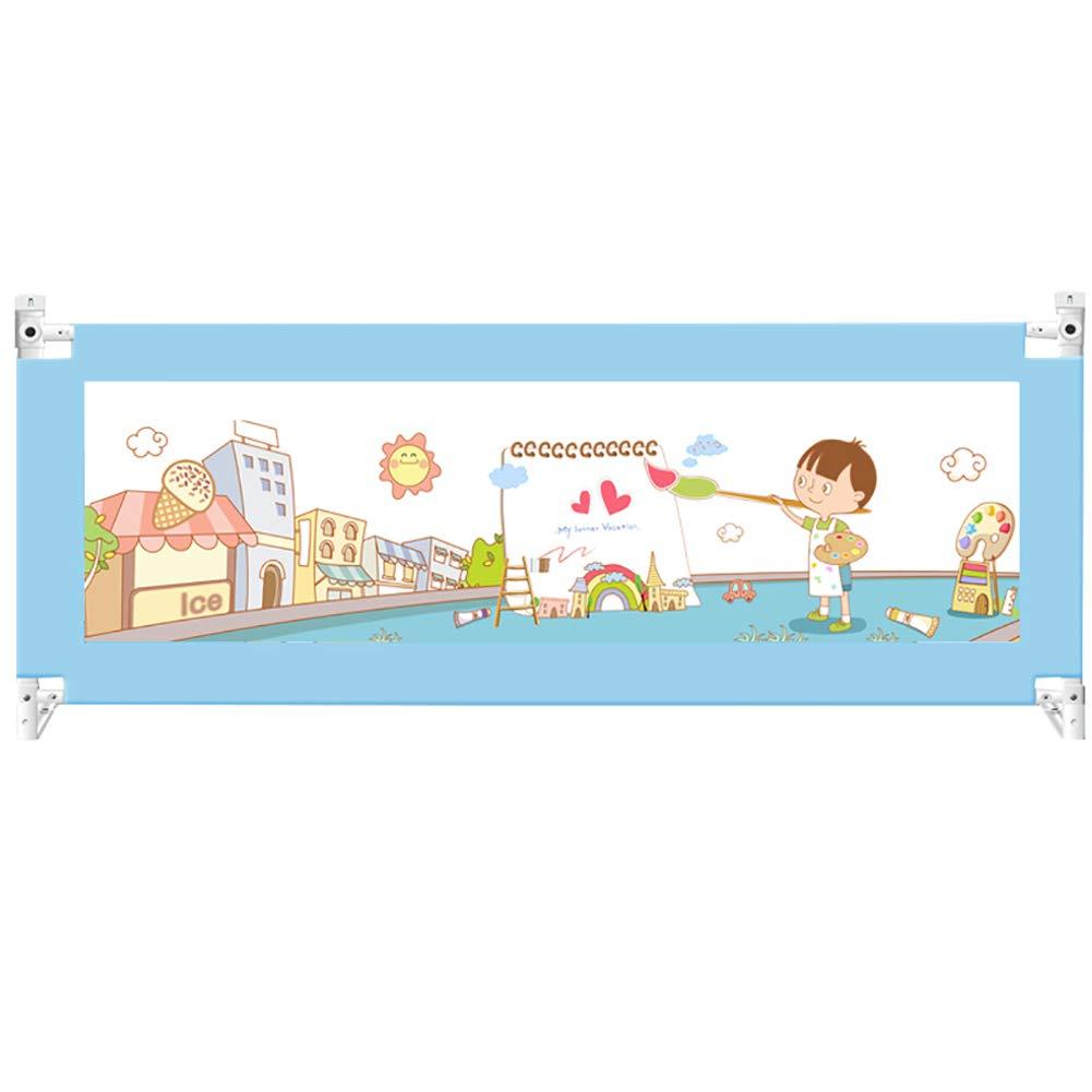 ベビーベッドガードポータブルと折り畳み式ベッドレール幼児のための (色 : 青, サイズ さいず : 2.2m) 2.2m 青 B07L315VPG