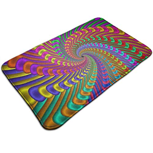 Marcus Roberta Swirl Wallpapers Design Foam Bath Mat Rug Non-Skid Rubber Backing Area Rug for Living Room/Dining Room/Bedroom/Foyer/playroom Floor Mat Size: 20