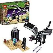 LEGO Minecraft The End Battle 21151 Ender Dragon Building Kit includes Dragon Slayer and Enderman Toy Figures