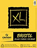 Canson XL Series Bristol Vellum Paper Pad, Heavyweight Paper for Pencil, Vellum Finish, Fold Over, 100 Pound, 11 x 14 Inch, Bright White, 25 Sheets