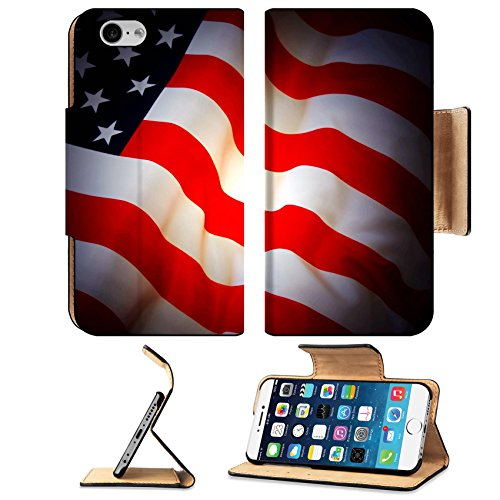 Liili Premium Apple iPhone 6 iPhone 6S Flip Pu Leather Wallet Case American Flag as background for Clip Art Photo 7515657 Simple Snap Carrying Purse Clipart
