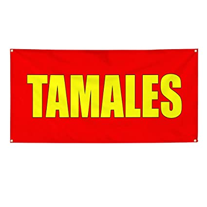 Amazon com : Vinyl Banner Sign Tamales red Food & Beverage