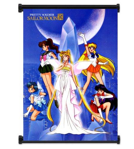 Sailor Moon Anime Fabric Wall Scroll Poster (16x23) Inches. [WP]- Sailor Moon- 47 (Wall Scrolls Sailor Moon)