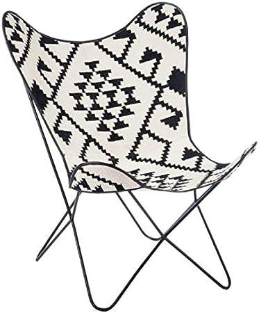 Paris Prix Fauteuil Design en Jute Papillon 92cm Noir