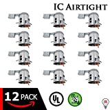 """6"""" Inch LED Remodel Can Air Tight IC Rated Housing for Recessed Lighting – UL Listed and Title 24 Certified (6 INCH, 12-Pack)"""