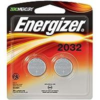 2 Pilas Reloj/electrónicos de Energizer, 3 voltios, 2032 (pila de litio botón)