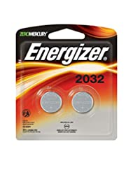 Energizer Watch/Electronic Batteries, 3 Volts, 2032, 2 batter...