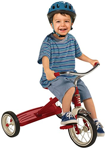 042385909707 - Radio Flyer Classic Tricycle with Push Handle, Red carousel main 2