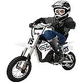 Razor MX400 Dirt Rocket 24V Electric Toy Motocross Motorcycle Dirt Bike, White