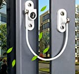Best Cables With Lock Latches - Stainless Steel Window Restrictor Security Lock, Anti-kids, Prevent Review