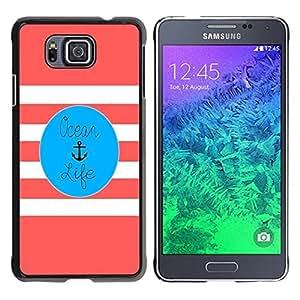 """Pulsar Snap-on Series Teléfono Carcasa Funda Case Caso para Samsung Galaxy Alpha G850 , La vida color de rosa del ancla Blue Marine"""""""