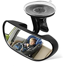 "Ideapro Baby Car Backseat Mirror, Rear View Facing Back Seat Mirror Child Safety Rearview Adjustable Forward Baby Mirror for Infant(5.78"" 2.16"")"