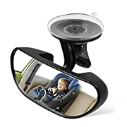 Ideapro Baby Car Backseat Mirror, Rear View Facing Back Seat Mirror Child Safety Rearview Adjustable Forward Baby Mirror for Infant(5.78  2.16 )
