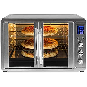 Best Choice Products 55L 1800W Extra Large Countertop Turbo Convection Toaster Oven w/French Doors, Digital Display, Timer, Stainless Steel