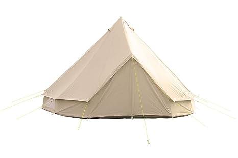 Bell Tent UK – Tienda de 5 m con cremallera en suelo y estufa agujero.