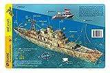 Duane Wreck Key Largo Florida Waterproof Dive Card