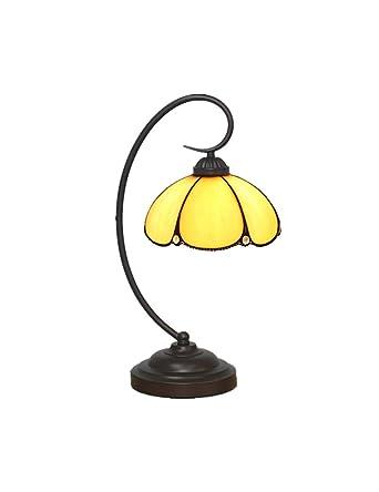 Et En Kcoob Couvercle Vintage Jaune Avec De Base Bureau Lampe Résine rBoCexdW