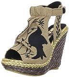 Irregular Choice Women's Kupcake Wedge Sandal,Natural,6.5 M US
